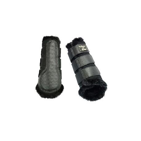 Brush Boots 3D Mesh met bont